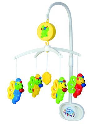 Карусель музыкальная пластиковая - эльфы, 0+ Canpol babies. Цвет: голубой, красный, светло-желтый