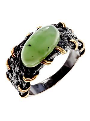 Кольцо Балтийское золото. Цвет: черный, зеленый, золотистый