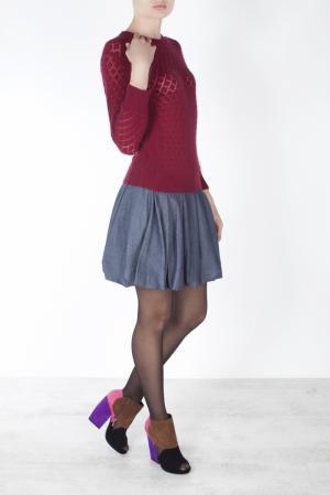 Хлопковая юбка Harvey Faircloth. Цвет: серый