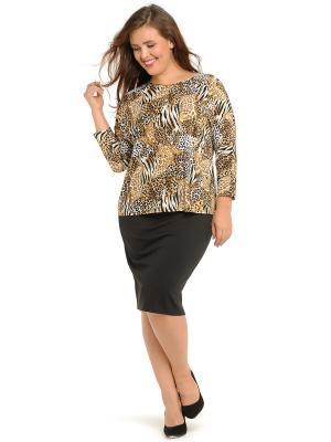 Блузка SVESTA. Цвет: коричневый