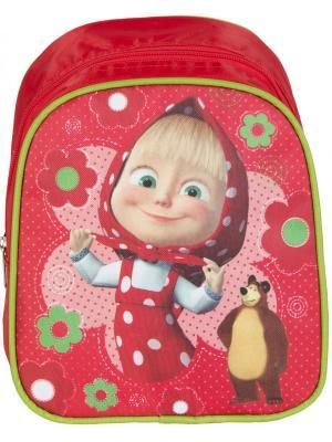 Рюкзачок малый Маша и Медведь классика. Цвет: красный, розовый