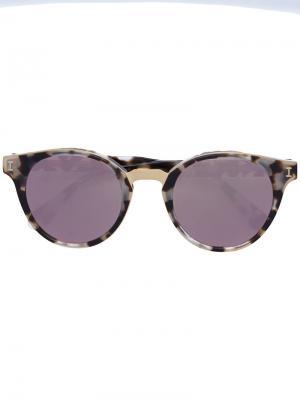 Солнцезащитные очки с черепаховой отделкой Illesteva. Цвет: коричневый