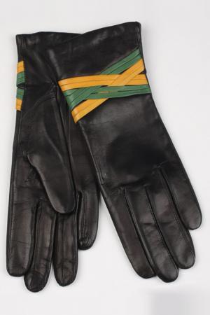 Перчатки Dali Exclusive. Цвет: черный, зеленый, желтый