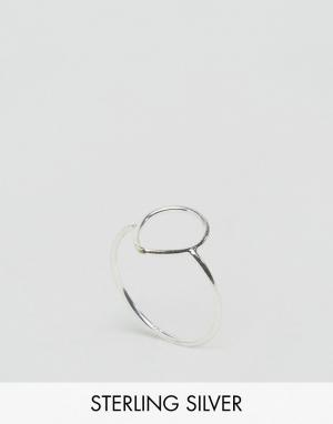 Kingsley Ryan Серебряное кольцо с каплеобразными вырезами. Цвет: серебряный