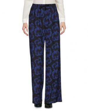 Повседневные брюки OBLÒ. Цвет: темно-синий
