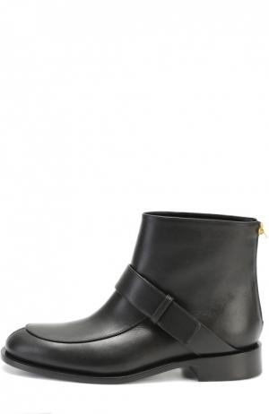 Кожаные ботинки с ремешком Marni. Цвет: черный