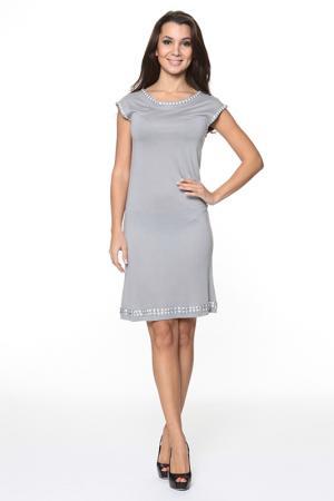 Платье украшенное декоративными элементами Piamente. Цвет: серый