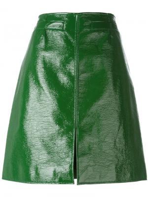 Юбка-карандаш Courrèges. Цвет: зелёный