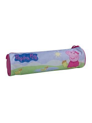 Пенал-тубус Свинка Пеппа Утка Peppa Pig. Цвет: сиреневый, розовый, зеленый