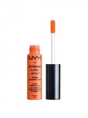 Увлажняющий блеск для губ. INTENSE BUTTER GLOSS - BANANA SPLIT NYX PROFESSIONAL MAKEUP. Цвет: светло-оранжевый