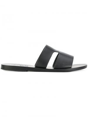 Сандалии на плоской подошве Ancient Greek Sandals. Цвет: чёрный