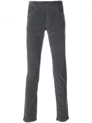 Вельветовые брюки кроя скинни Dolce & Gabbana. Цвет: серый