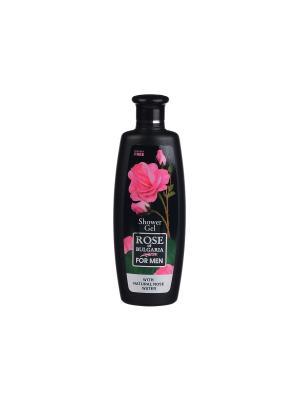 Гель для душа-шампунь мужчин 2 в 1 Rose of Bulgaria for men Biofresh. Цвет: розовый, черный
