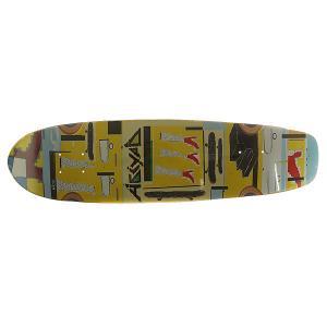 Дека для скейтборда лонгборда  Paint 3 Multi 7.75 x 30.12 (76.5 см) Absurd. Цвет: мультиколор