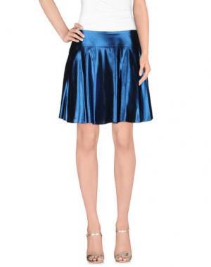 Мини-юбка MAURO GRIFONI. Цвет: синий