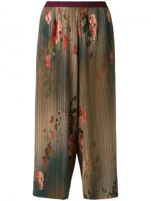 Плиссированные брюки Antonio Marras. Цвет: зелёный