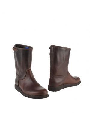 Полусапоги и высокие ботинки ESSEUTESSE. Цвет: темно-коричневый
