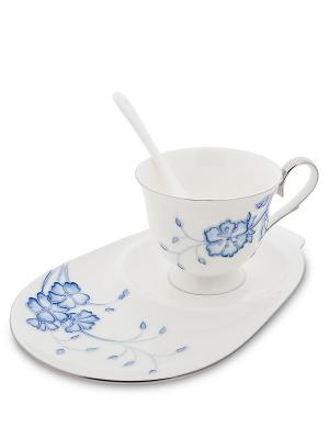 Чайная пара Голубая бабочка (Pavone) Pavone. Цвет: белый