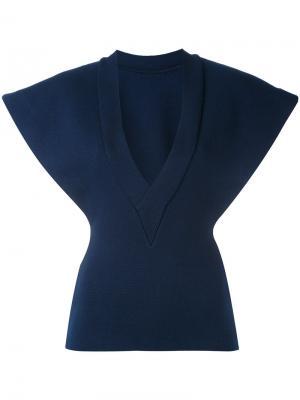 Блузка структурированного кроя Jacquemus. Цвет: синий