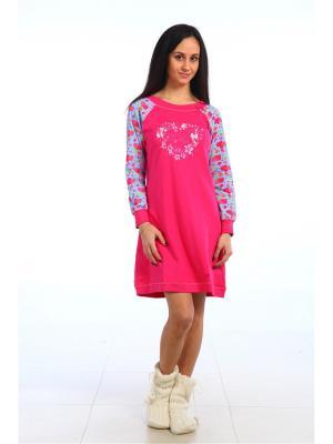 Ночная сорочка Pastilla. Цвет: малиновый