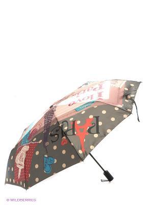 Зонт Flioraj. Цвет: серый, бежевый, красный