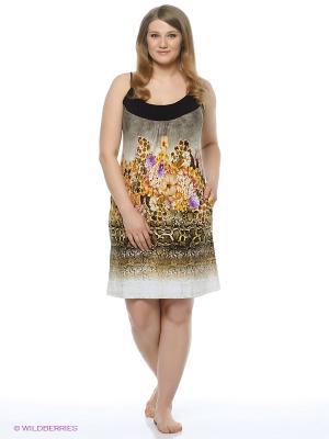 Сарафан Mojo Collection. Цвет: коричневый, белый, черный, желтый