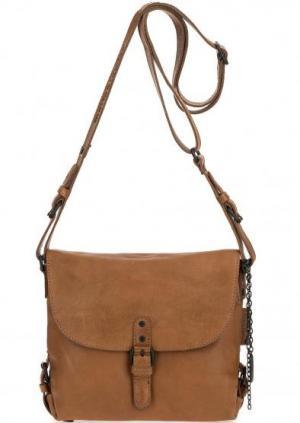 Кожаная сумка через плечо aunts & uncles. Цвет: коричневый