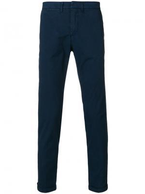 Классические брюки чинос Fay. Цвет: синий
