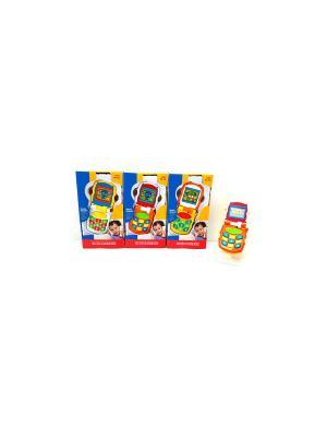 Игрушка Телефон-раскладушка HUILE. Цвет: синий, красный, желтый
