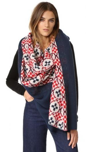 Объемный клетчатый шарф Maja Standard Form