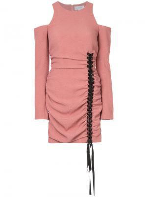 Платье Ambrosia с декоративной сборкой Rebecca Vallance. Цвет: розовый и фиолетовый