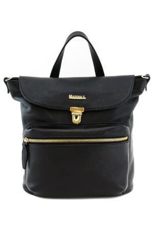 Сумка-рюкзак MARINA C.. Цвет: черный