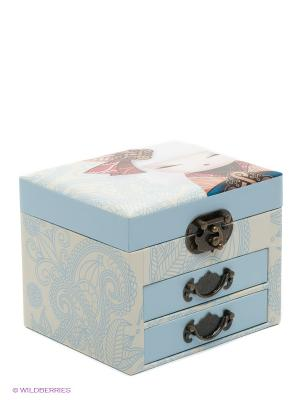 Шкатулка для бижутерии Намика Kimmidoll. Цвет: голубой