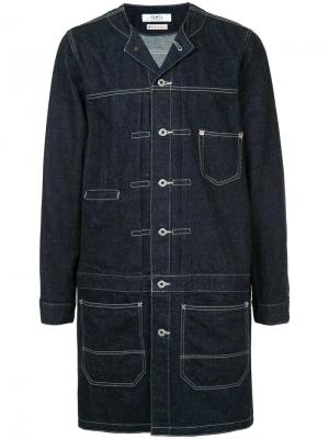 Удлиненная джинсовая куртка Fdmtl. Цвет: синий