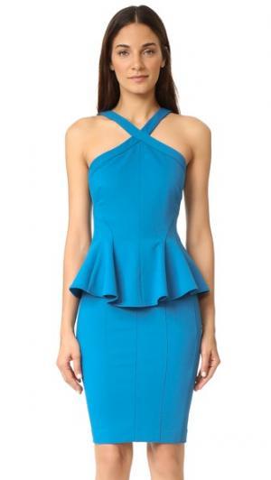 Платье Adelaide от Zac Posen. Цвет: небесно-голубой