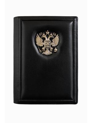 Обложка для паспорта классик Кожевенный дворъ. Цвет: черный