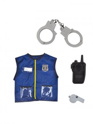 Костюм Игровой Полицейский с аксессуарами Склад Уникальных Товаров. Цвет: синий