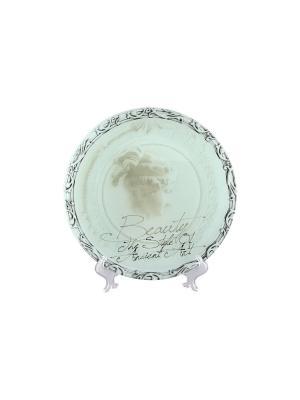 Блюдо Афродита Elan Gallery. Цвет: голубой
