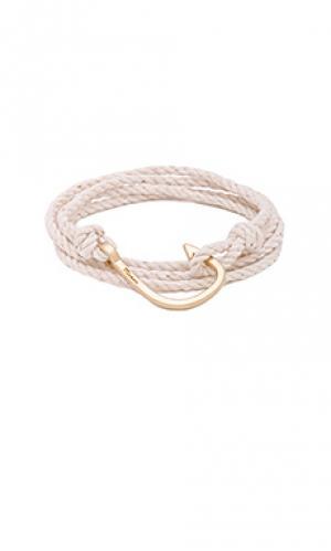 Браслет hook on rope Miansai. Цвет: белый