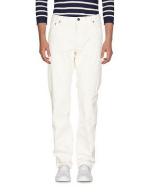 Джинсовые брюки JOHN VARVATOS. Цвет: слоновая кость