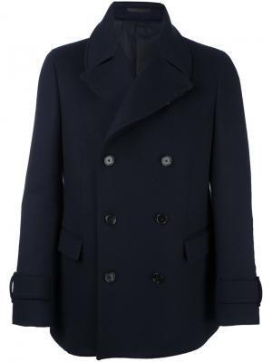 Двубортное пальто Z Zegna. Цвет: синий