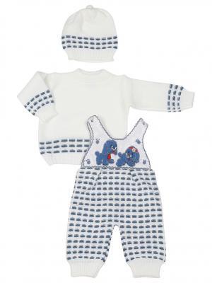 Комплект одежды M-BABY. Цвет: белый, индиго