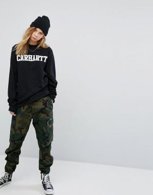 Carhartt Свободные камуфляжные брюки-карго WIP. Цвет: зеленый