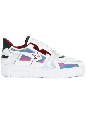 Кроссовки с панельным дизайном Alberto Premi. Цвет: белый