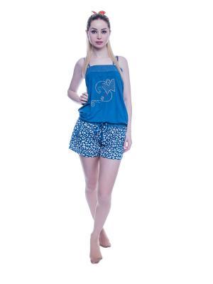 Пижама NICOLETTA. Цвет: серо-голубой