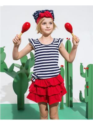 Комплект одежды Cookie. Цвет: белый, красный, темно-синий