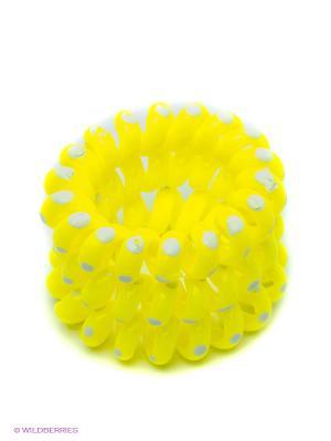 Резинка-браслет для волос, 3 шт. Mitya Veselkov. Цвет: желтый