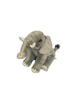 Мягкая игрушка Слон Азбука Тойс. Цвет: серый