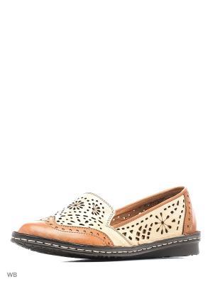 Туфли Goergo. Цвет: коричневый, бежевый