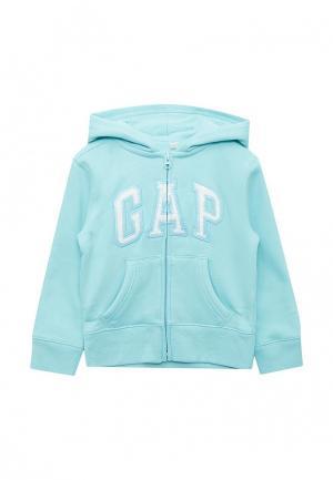 Толстовка Gap. Цвет: голубой
